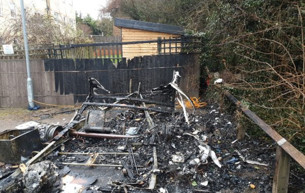An Electrical Fault Causes a Caravan Blaze