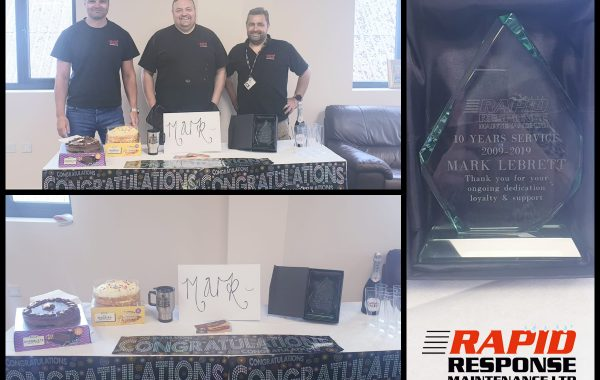 We're Celebrating a 10 Year Anniversary at Rapid Response!